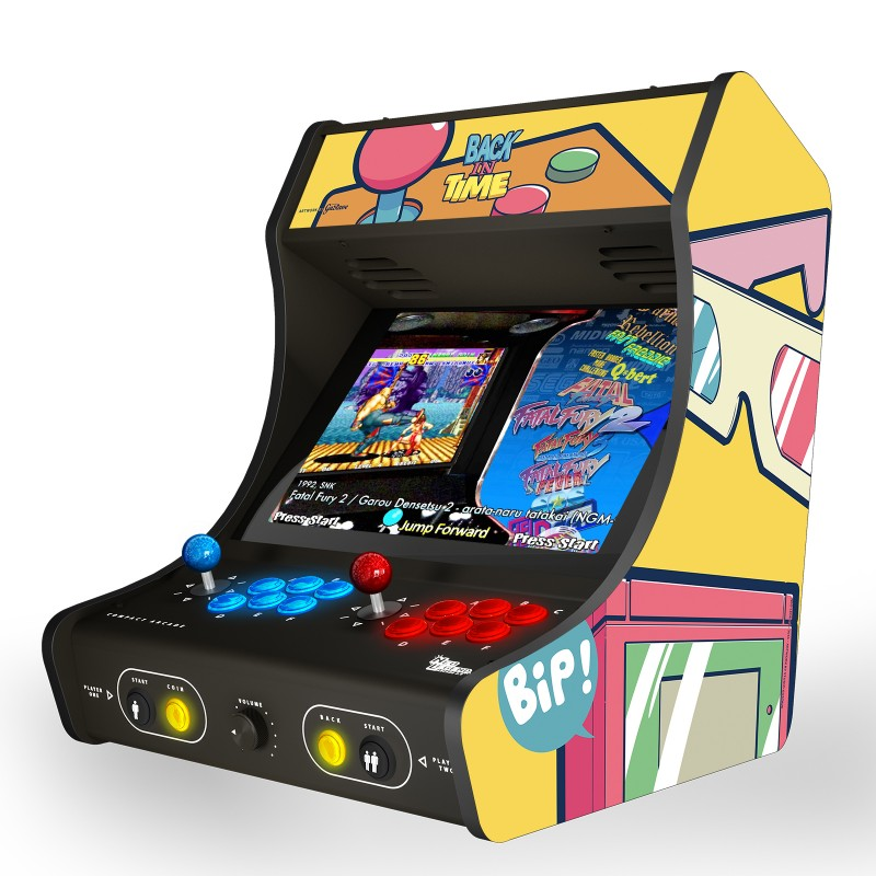 "BACK IN TIME ! retro yellow ""Arcade Box"""