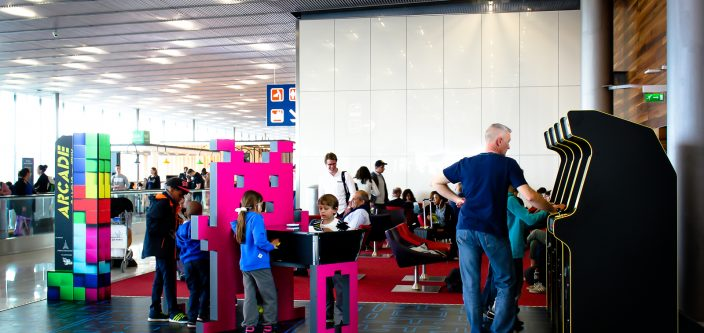 New arcade zone at French Airport Orly