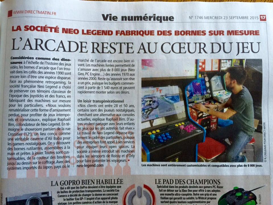 neo legend appears in direct matin daily newspaper. Black Bedroom Furniture Sets. Home Design Ideas