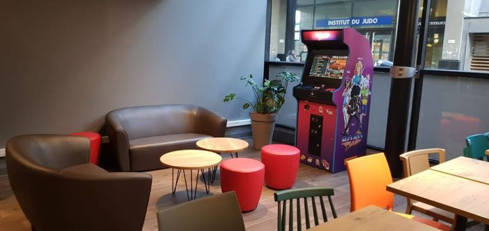 The F1 hotel offers its arcade machine