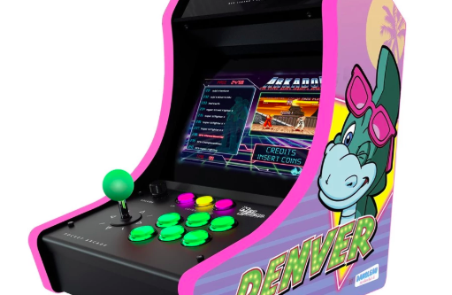 The pocket arcade to the image of Denver, the last dinosaur