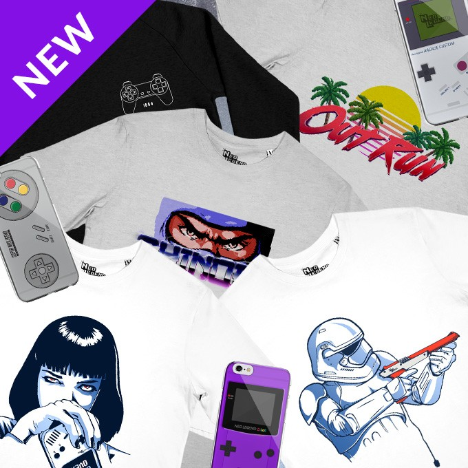 Discover our retro gaming t-shirts!